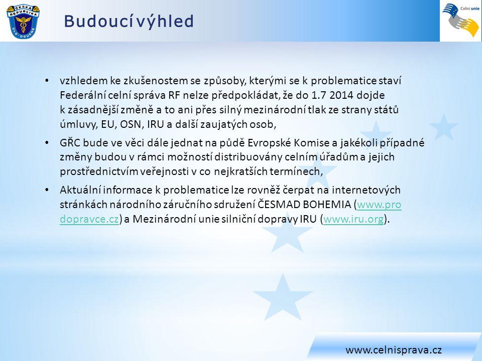 Budoucí výhled www.celnisprava.cz.