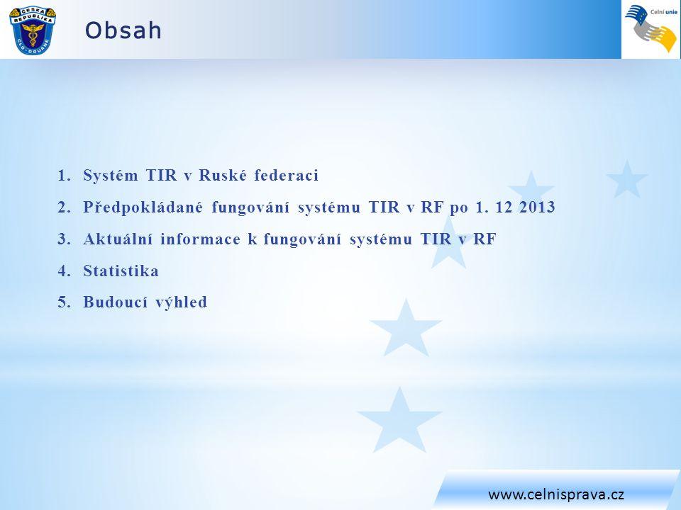 Obsah Systém TIR v Ruské federaci