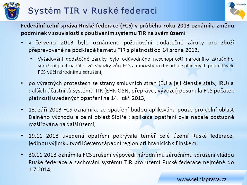 Systém TIR v Ruské federaci
