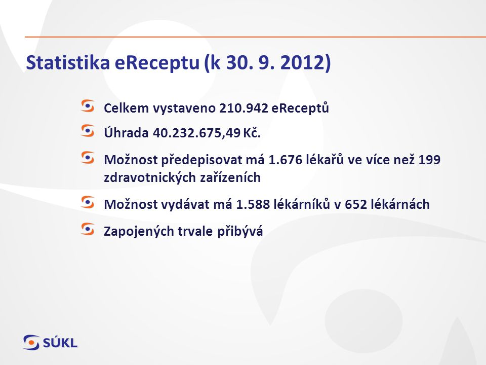 Statistika eReceptu (k 30. 9. 2012)