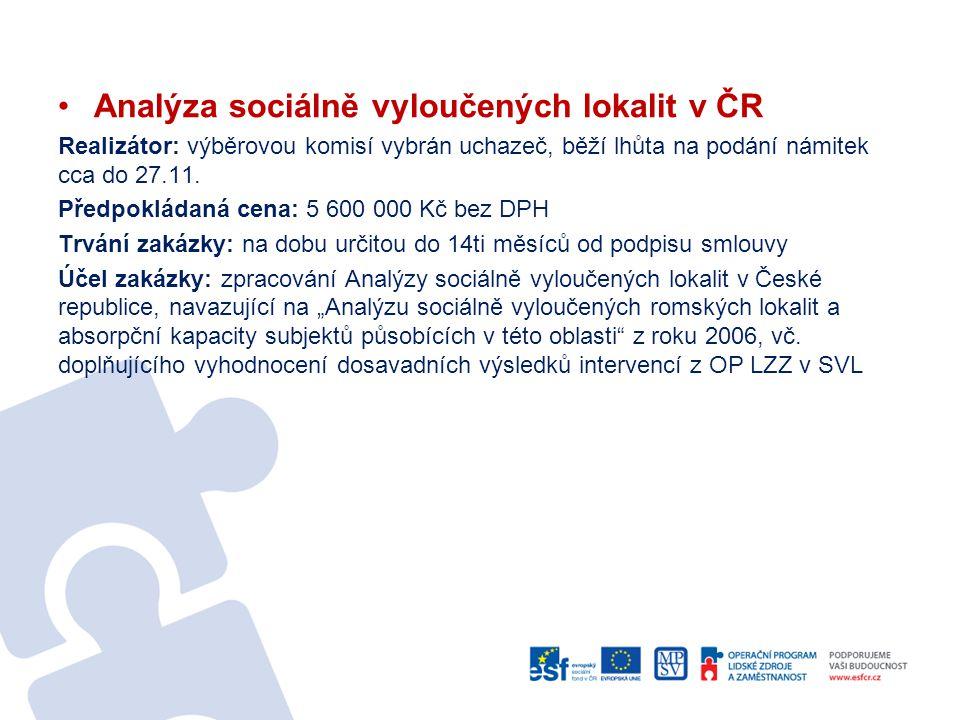 Analýza sociálně vyloučených lokalit v ČR