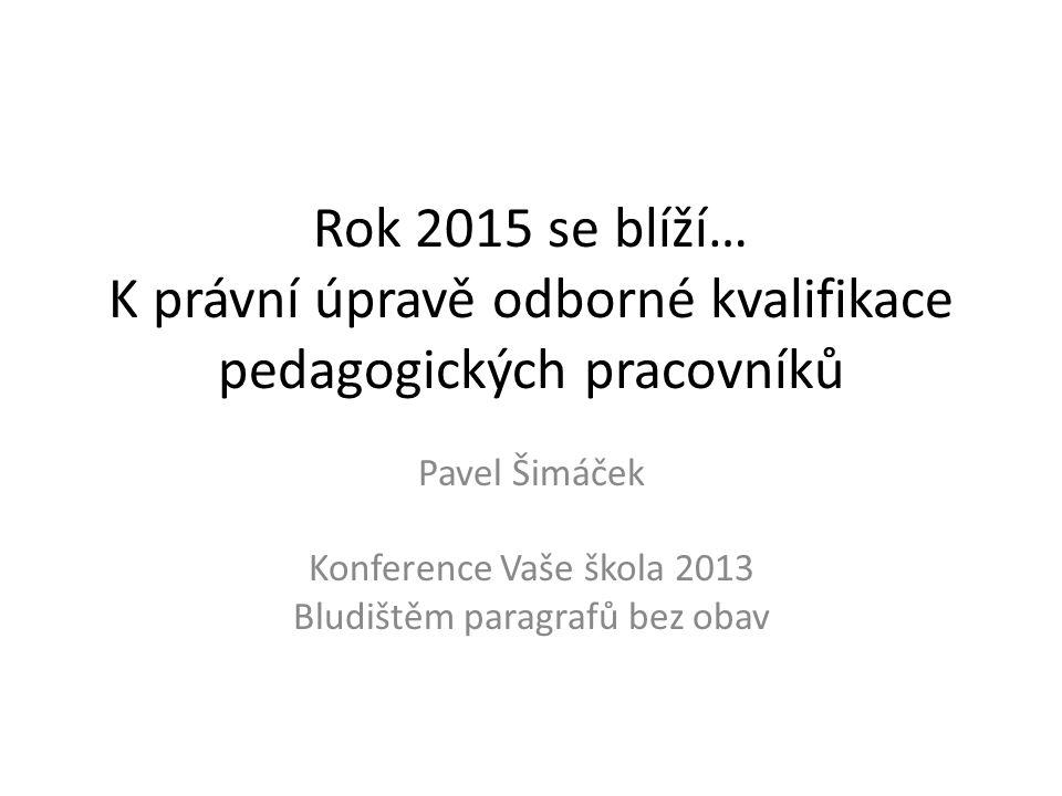 Pavel Šimáček Konference Vaše škola 2013 Bludištěm paragrafů bez obav