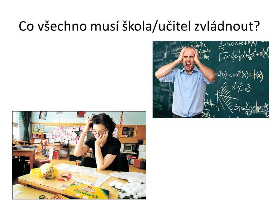 Co všechno musí škola/učitel zvládnout
