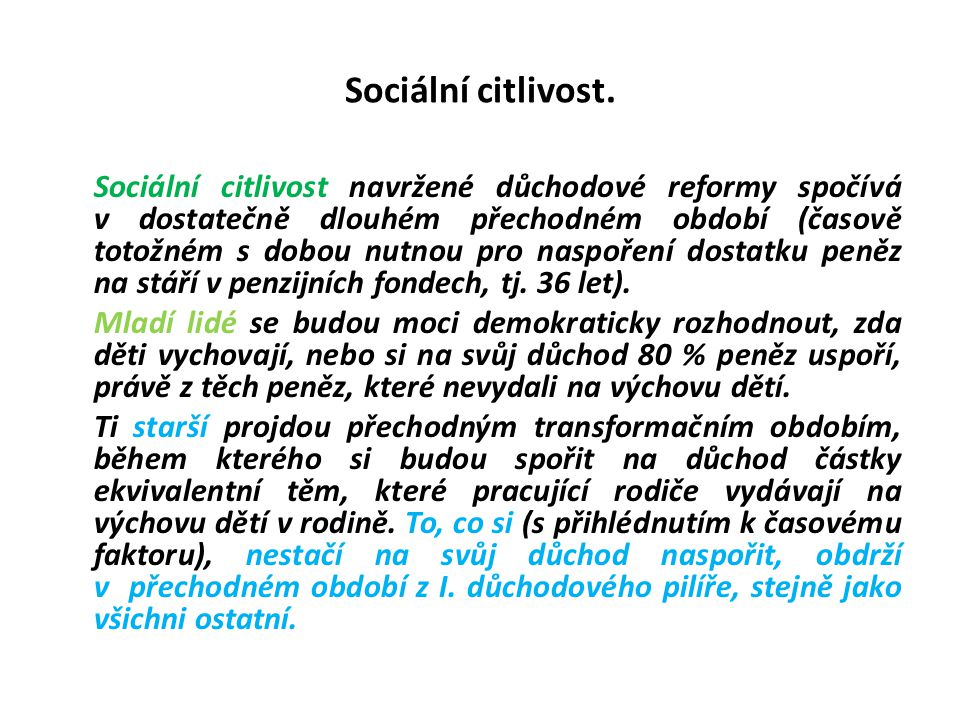 Sociální citlivost.