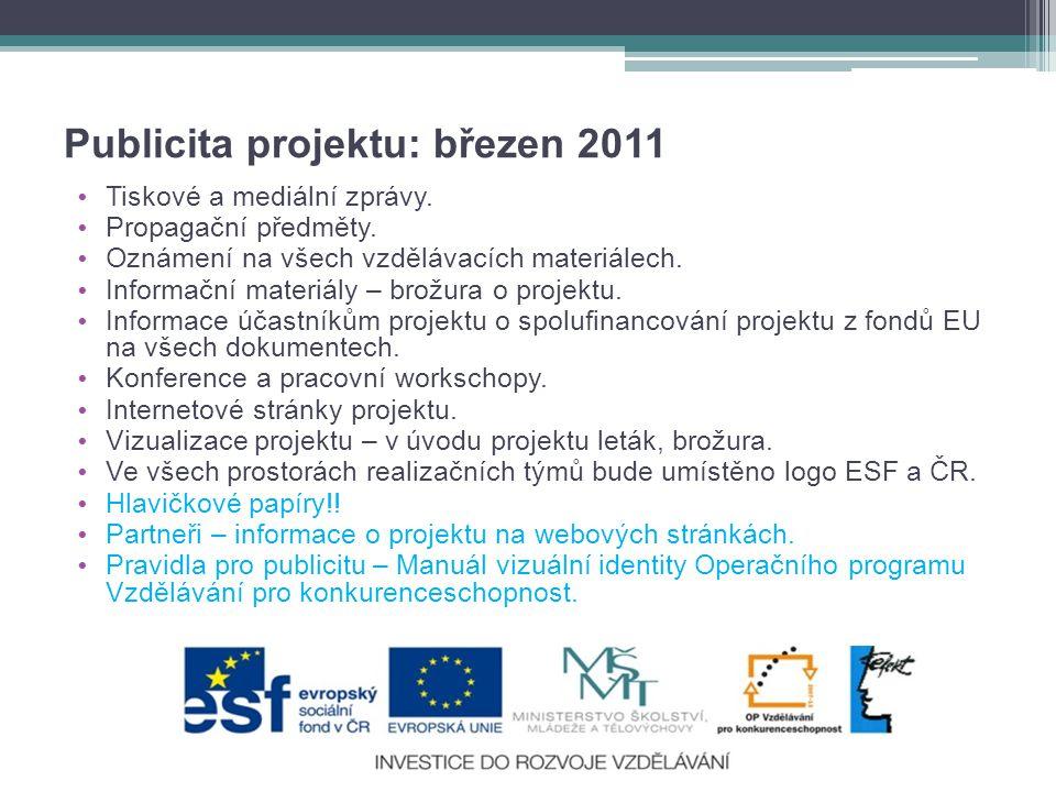 Publicita projektu: březen 2011