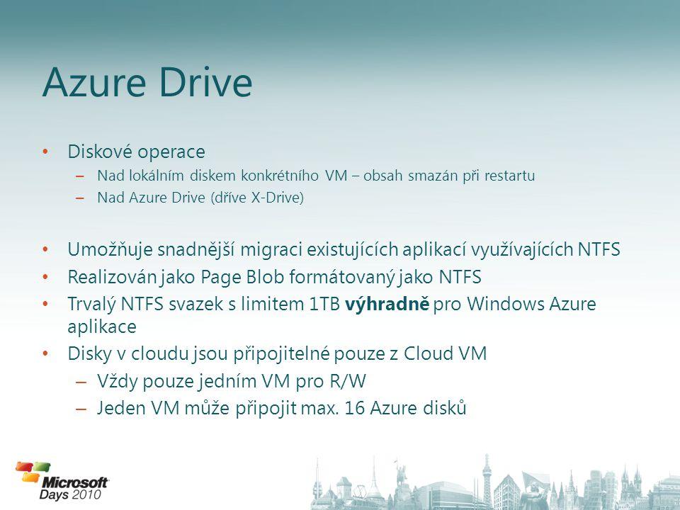 Azure Drive Diskové operace