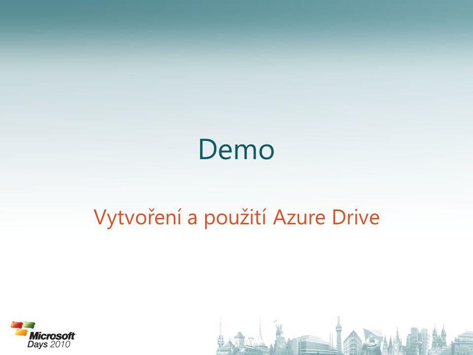 Vytvoření a použití Azure Drive
