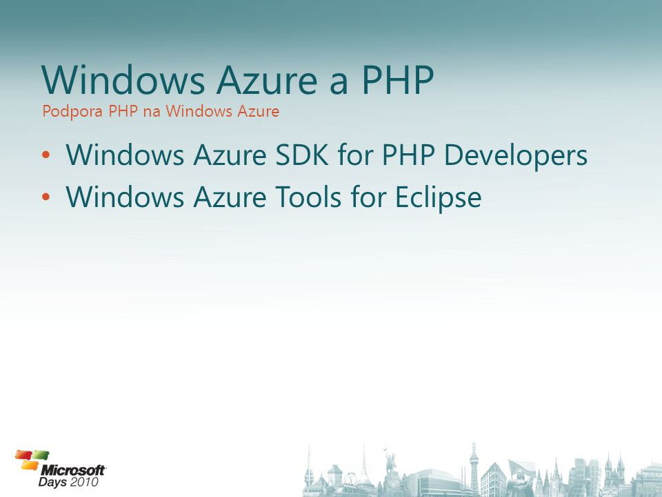 Windows Azure a PHP Windows Azure SDK for PHP Developers