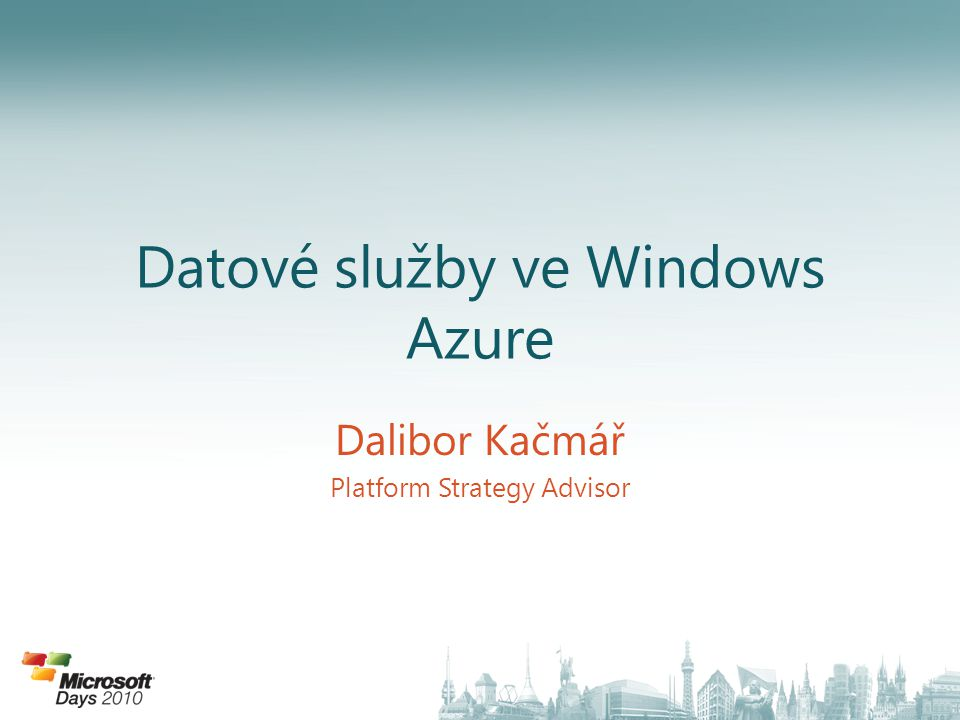 Datové služby ve Windows Azure