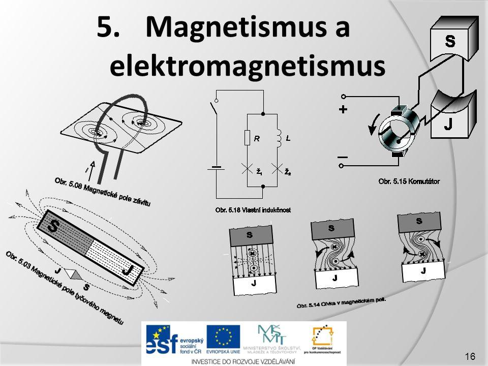 5. Magnetismus a elektromagnetismus