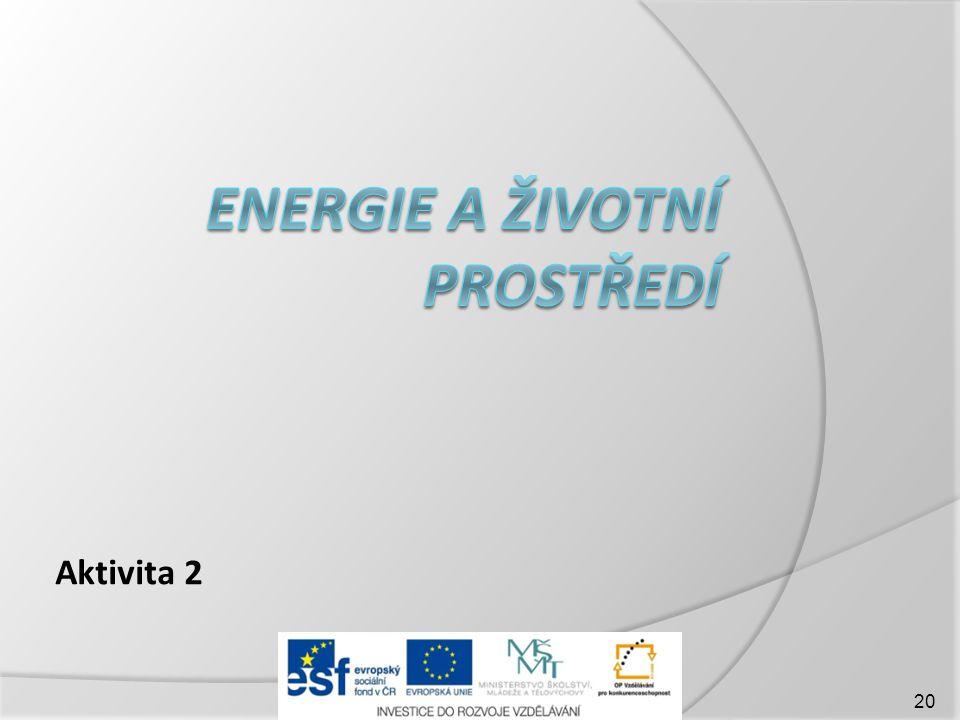 Energie a životní prostředí