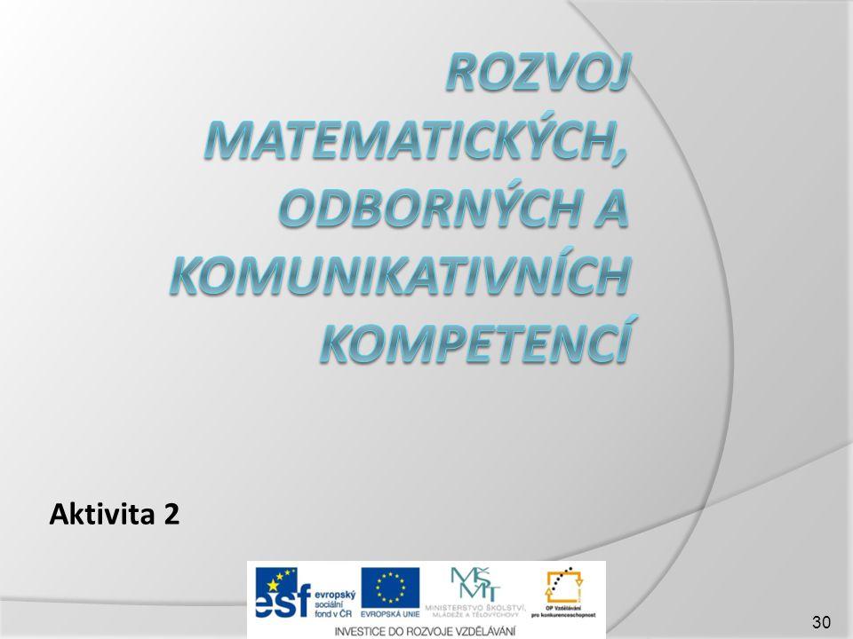 Rozvoj matematických, odborných a komunikativních kompetencí