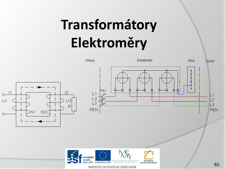 Transformátory Elektroměry