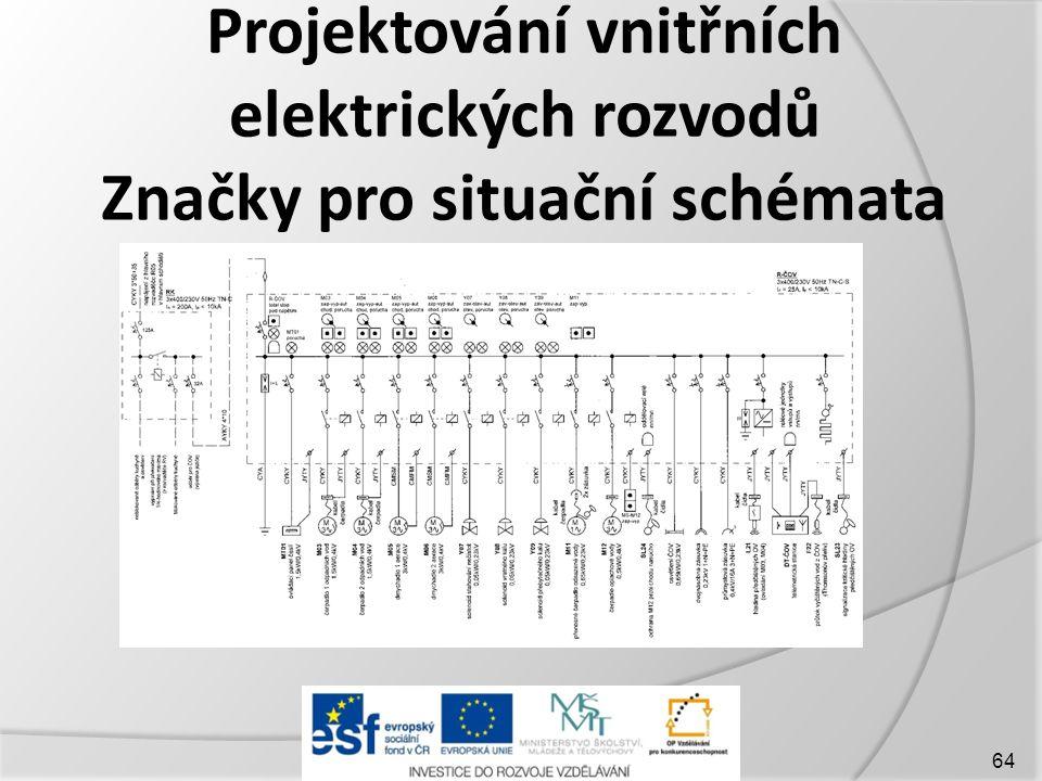 Projektování vnitřních elektrických rozvodů Značky pro situační schémata