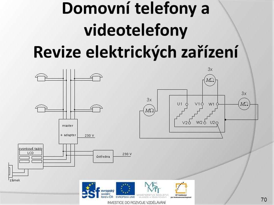 Domovní telefony a videotelefony Revize elektrických zařízení