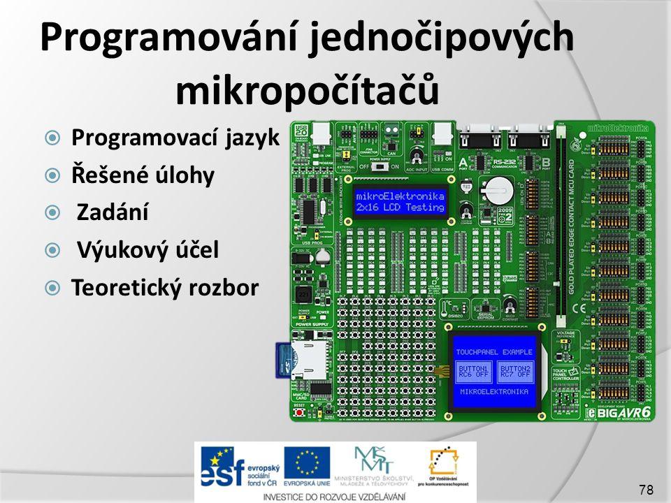 Programování jednočipových mikropočítačů