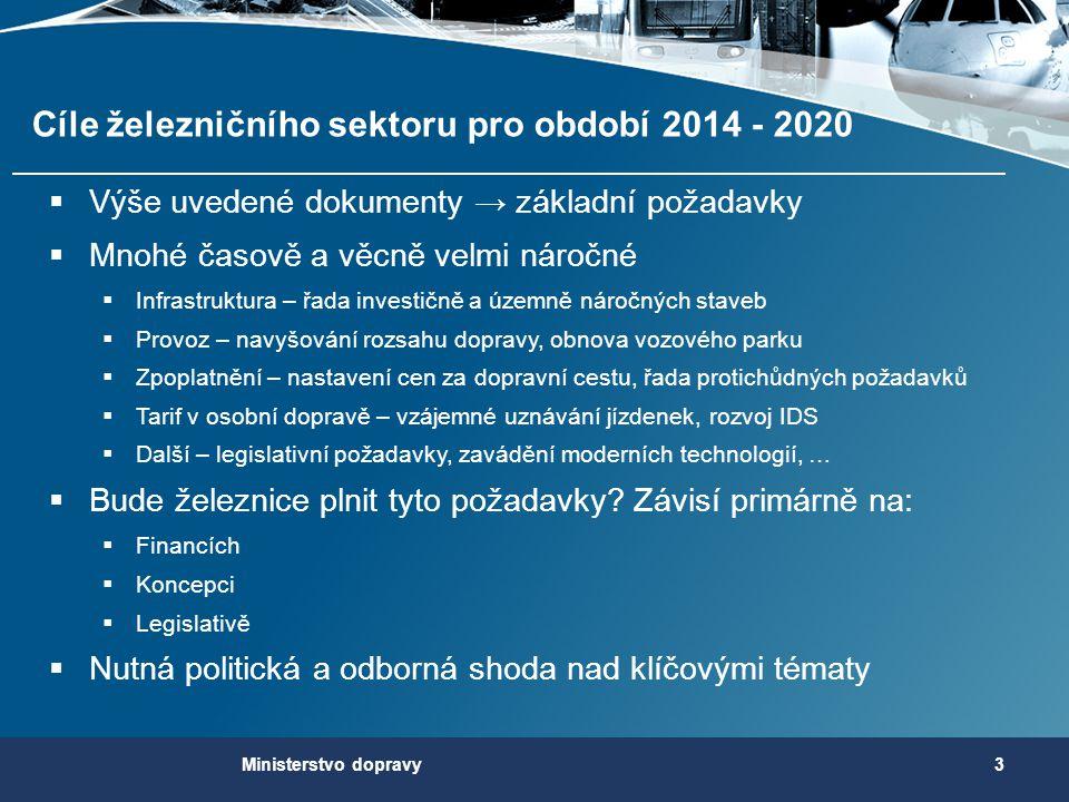 Cíle železničního sektoru pro období 2014 - 2020