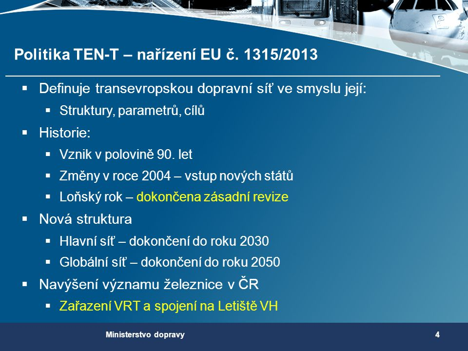 Politika TEN-T – nařízení EU č. 1315/2013