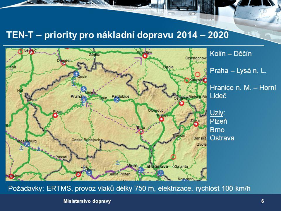 TEN-T – priority pro nákladní dopravu 2014 – 2020