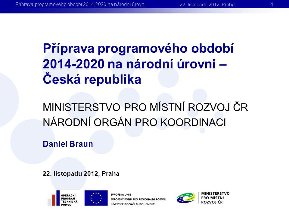 Daniel Braun 22. listopadu 2012, Praha