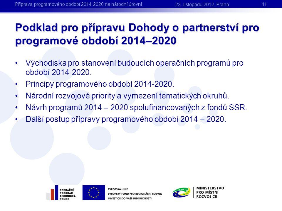 Příprava programového období 2014-2020 na národní úrovni