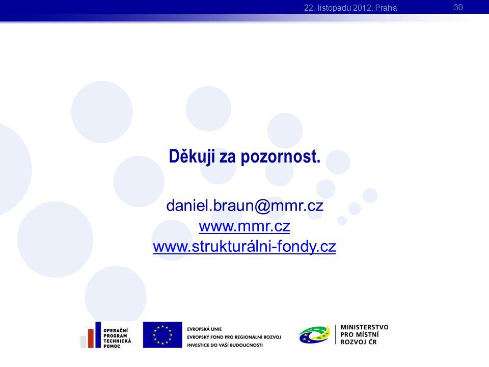 Děkuji za pozornost. daniel.braun@mmr.cz www.mmr.cz