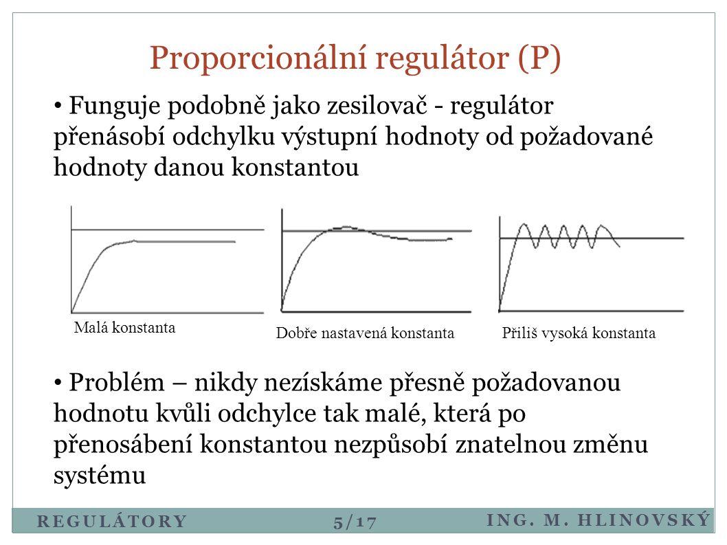 Proporcionální regulátor (P)
