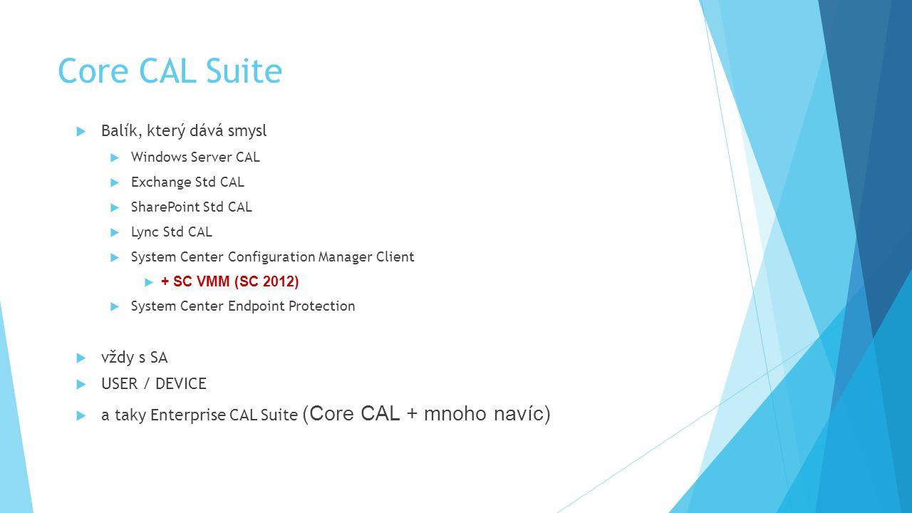 Core CAL Suite Balík, který dává smysl vždy s SA USER / DEVICE