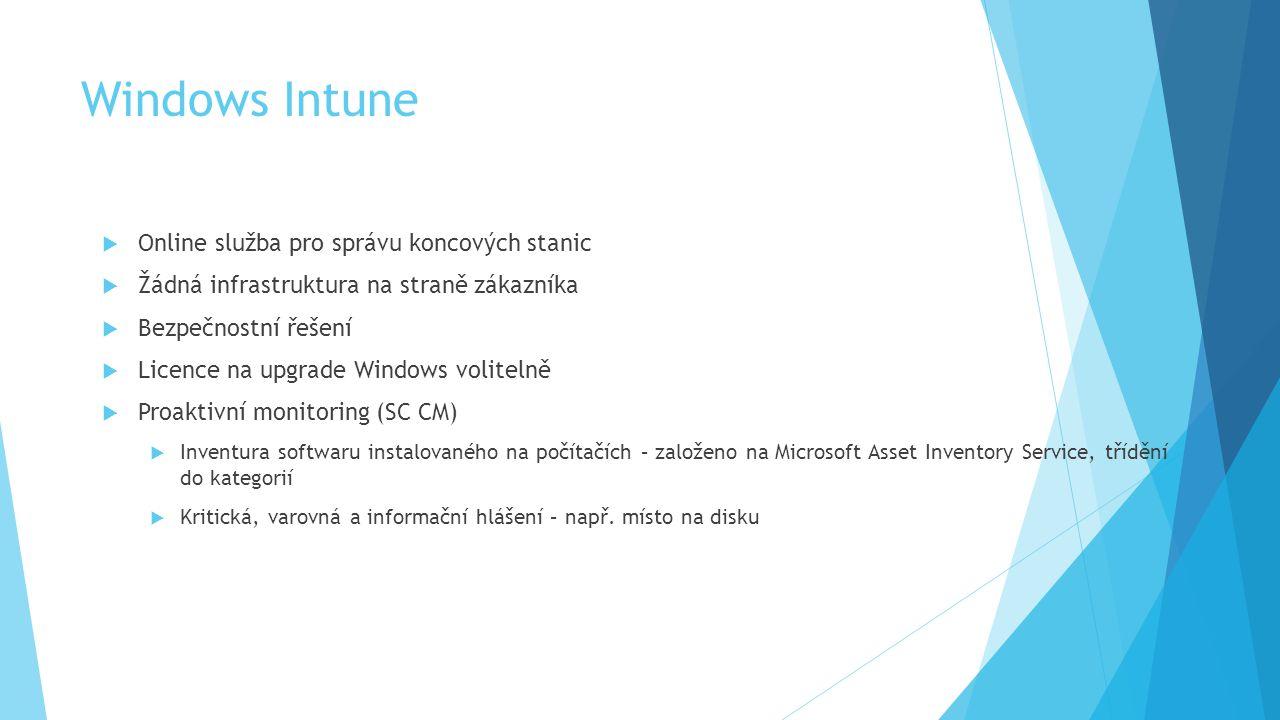 Windows Intune Online služba pro správu koncových stanic