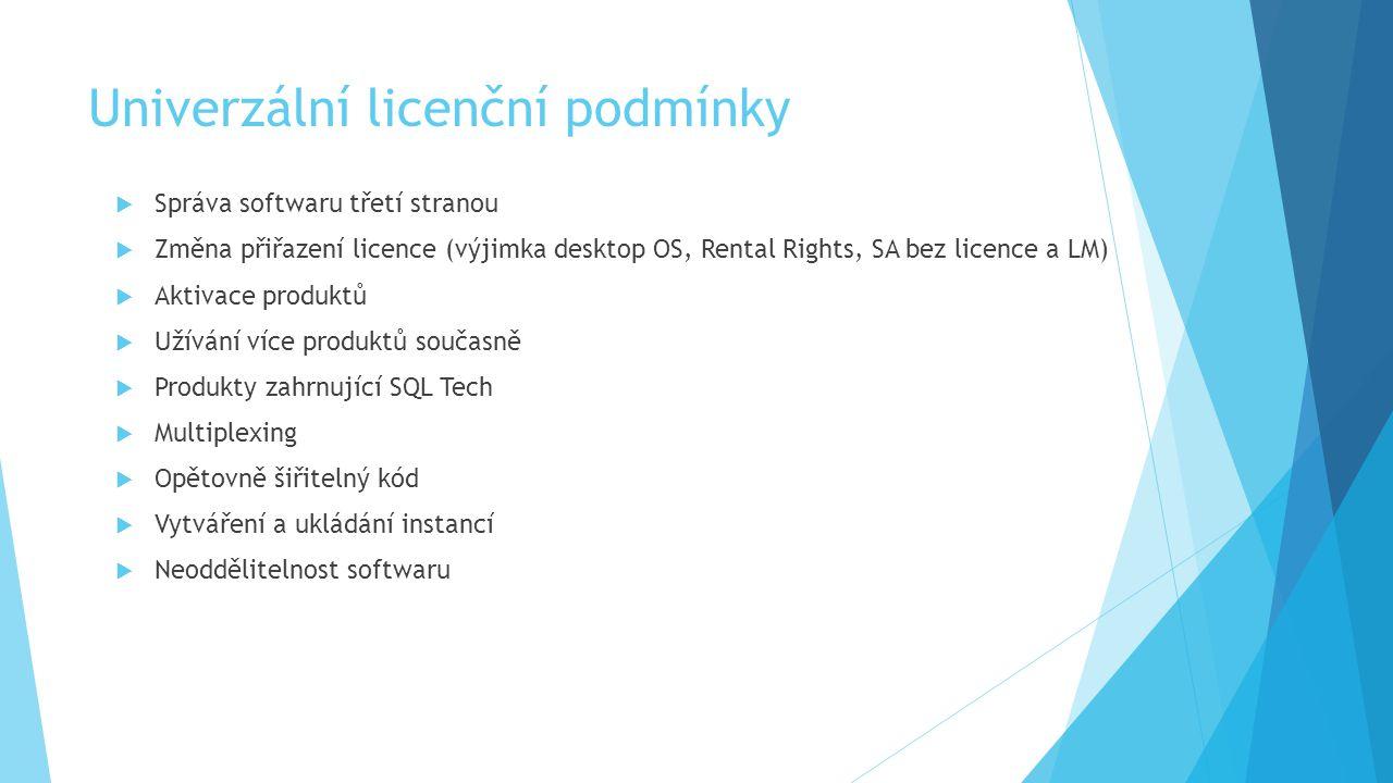 Univerzální licenční podmínky