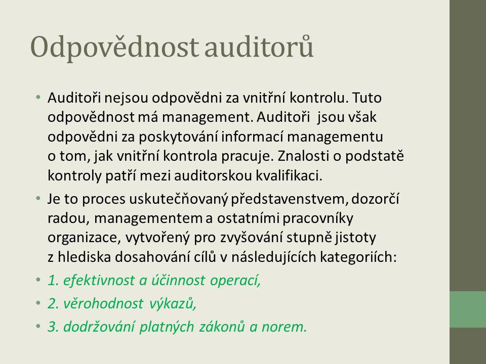 Odpovědnost auditorů