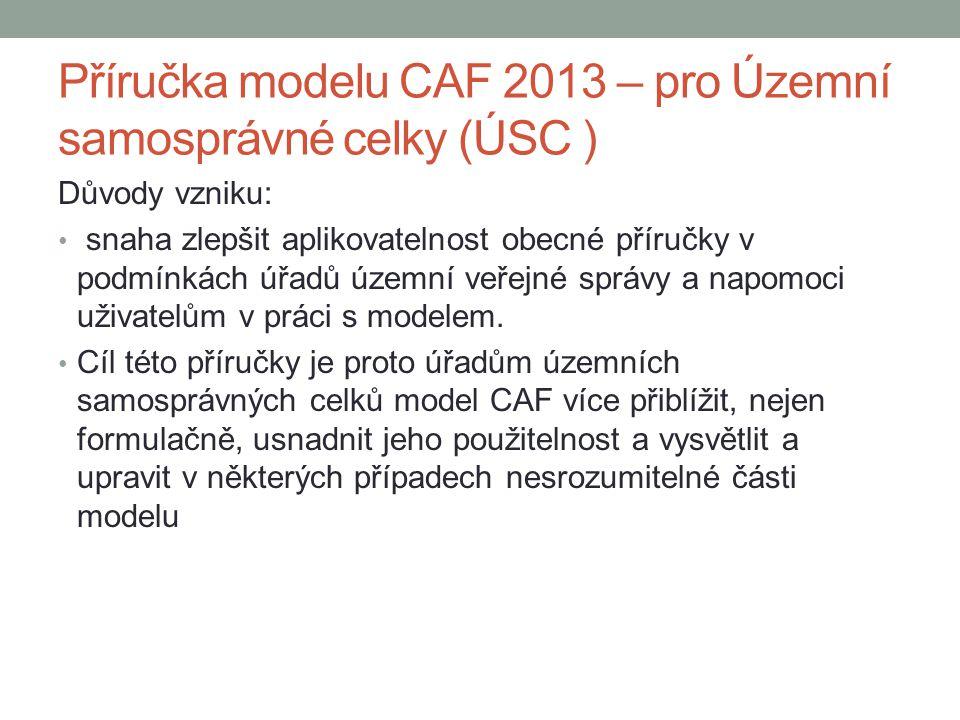 Příručka modelu CAF 2013 – pro Územní samosprávné celky (ÚSC )