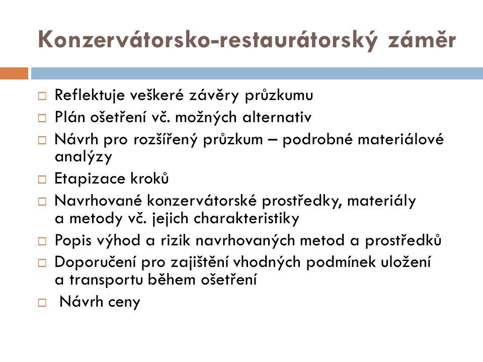 Konzervátorsko-restaurátorský záměr