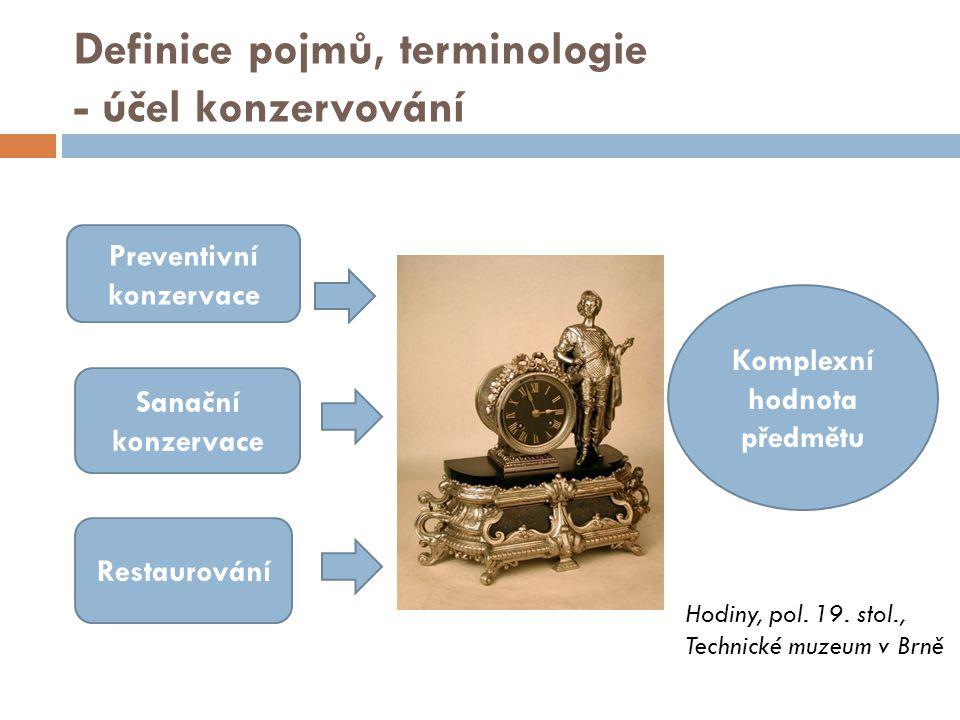 Definice pojmů, terminologie - účel konzervování