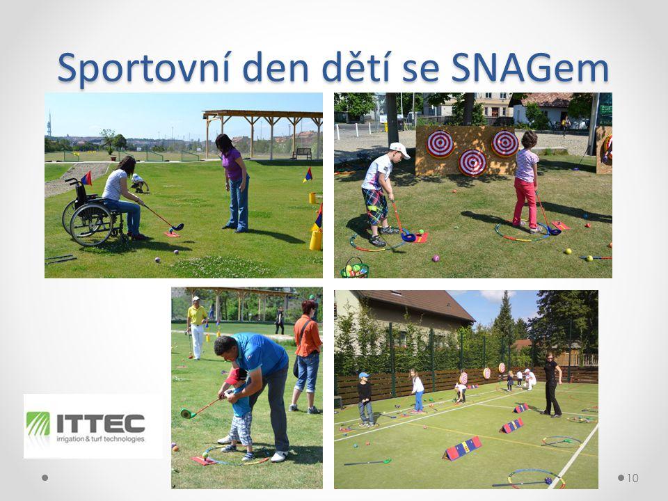 Sportovní den dětí se SNAGem