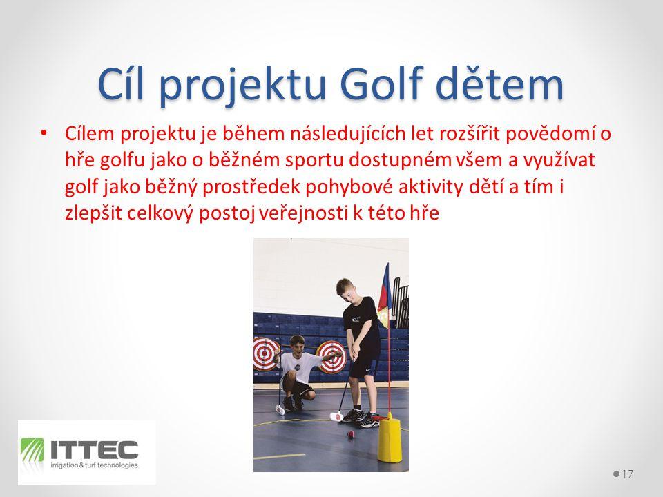 Cíl projektu Golf dětem