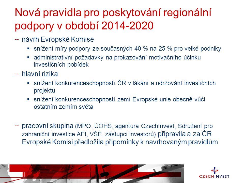 Nová pravidla pro poskytování regionální podpory v období 2014-2020