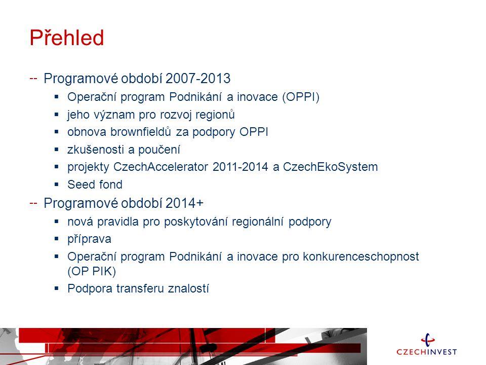 Přehled Programové období 2007-2013 Programové období 2014+