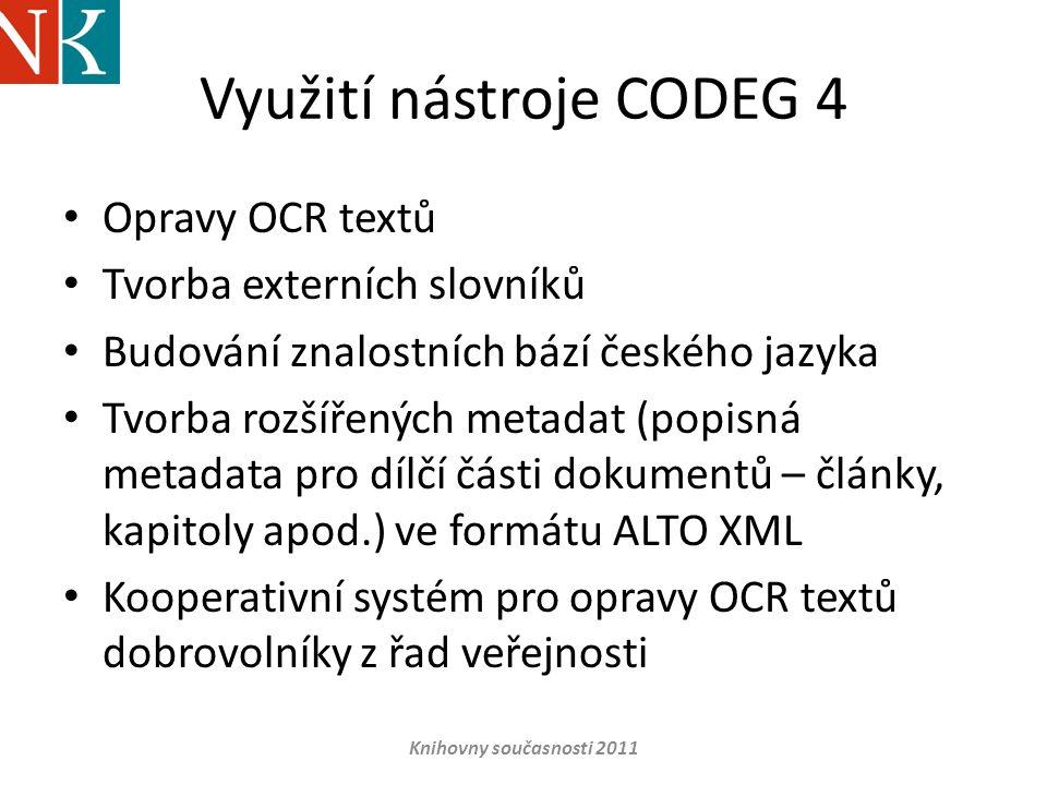 Využití nástroje CODEG 4