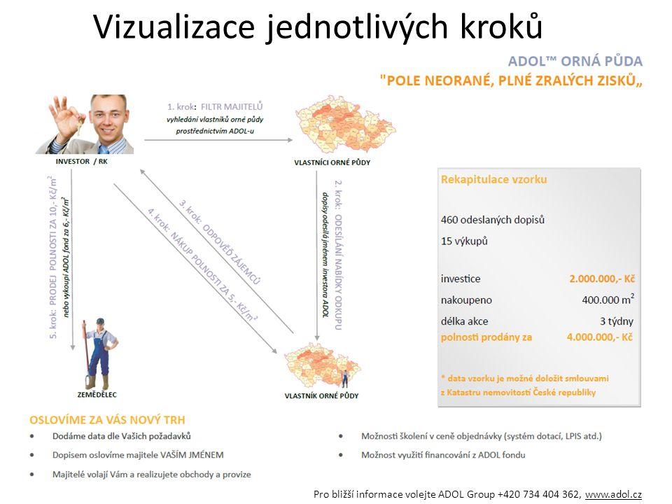 Vizualizace jednotlivých kroků