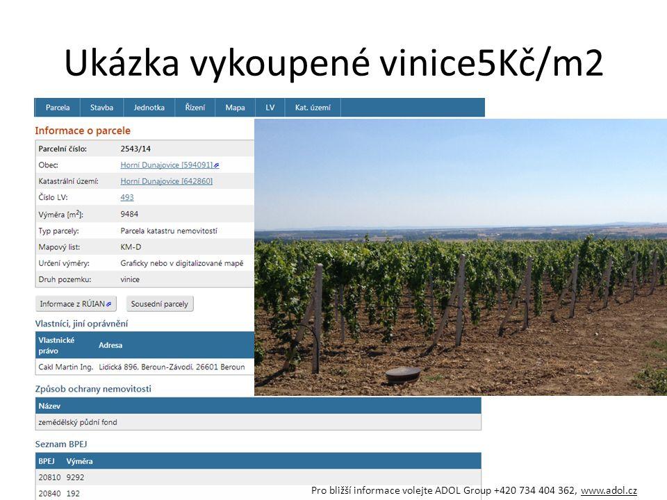 Ukázka vykoupené vinice5Kč/m2