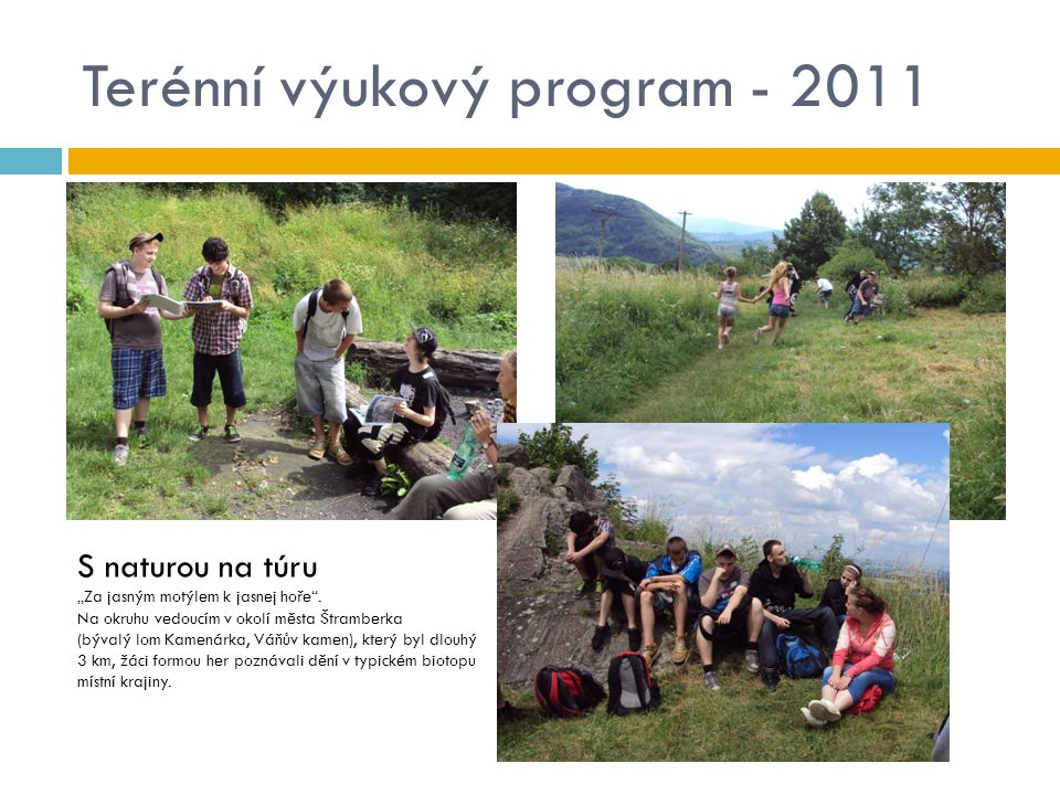 Terénní výukový program - 2011