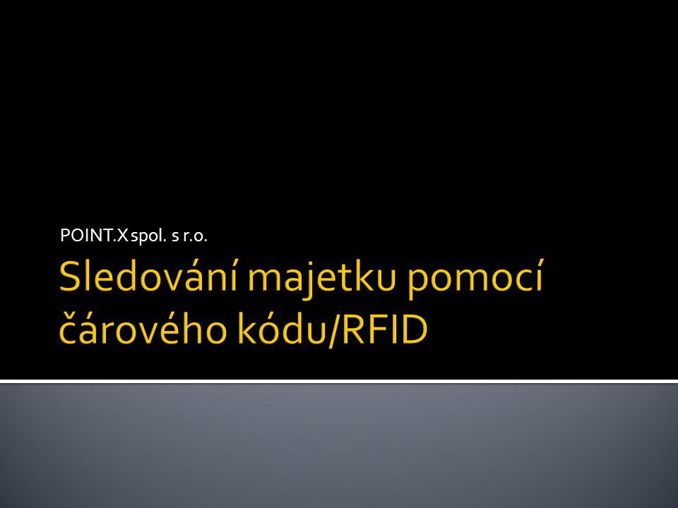 Sledování majetku pomocí čárového kódu/RFID