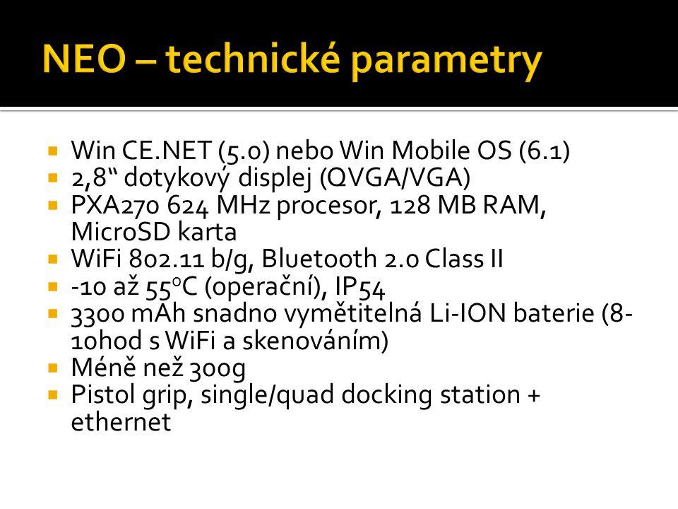 NEO – technické parametry