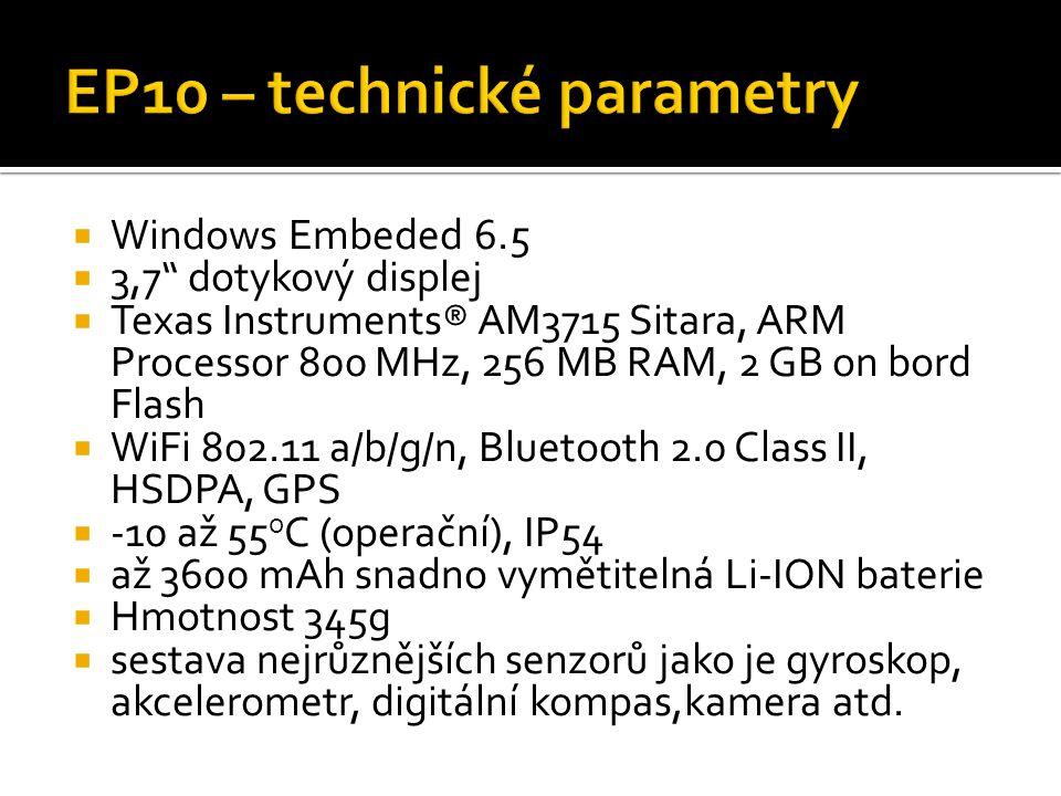 EP10 – technické parametry