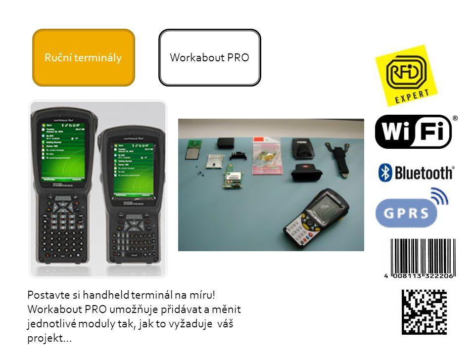 Ruční terminály Workabout PRO. Postavte si handheld terminál na míru! Workabout PRO umožňuje přidávat a měnit.