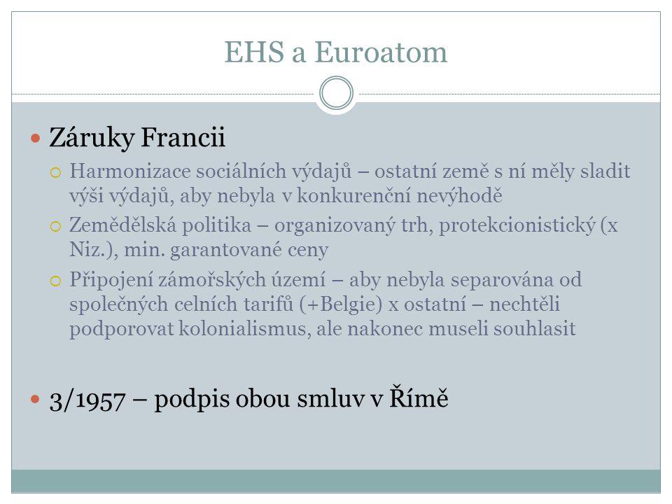 EHS a Euroatom Záruky Francii 3/1957 – podpis obou smluv v Římě