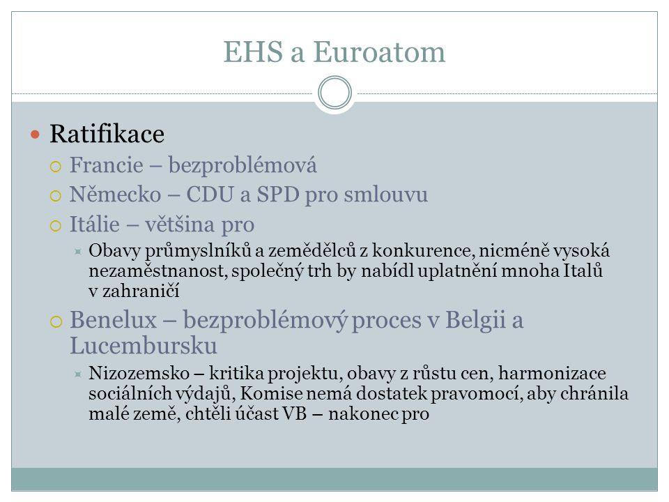 EHS a Euroatom Ratifikace