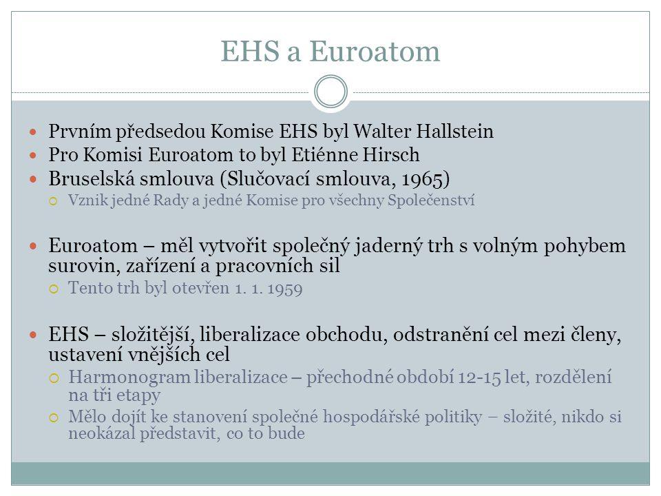 EHS a Euroatom Bruselská smlouva (Slučovací smlouva, 1965)