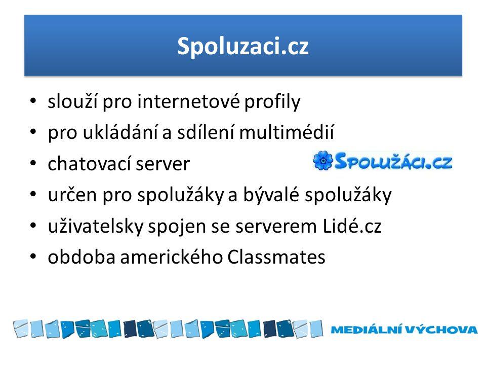 Spoluzaci.cz slouží pro internetové profily